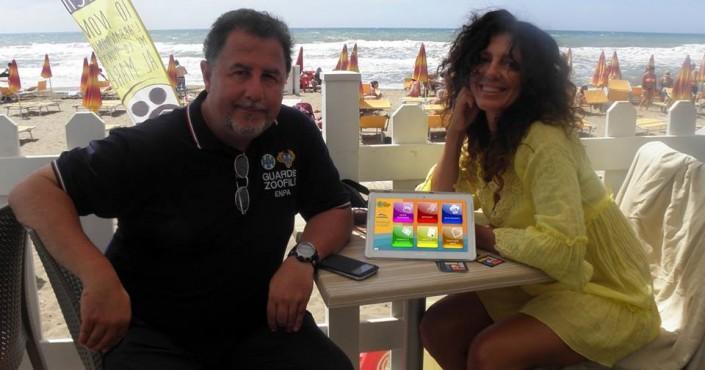 Marco Bravi di ENPA e Paola Mannaioni